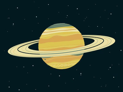 I put a ring on it! saturn planets space illustration