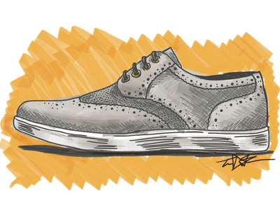 Fresh Kicks just for kicks shoes illustration style sketch ipad drawing forge stylus
