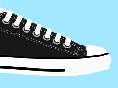 Chuck. shoes just for kicks illustration