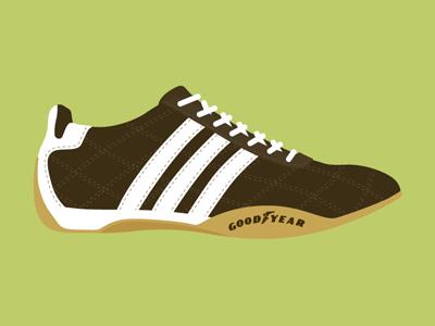 Adidas Tuscany shoe illustration just for kicks brown green