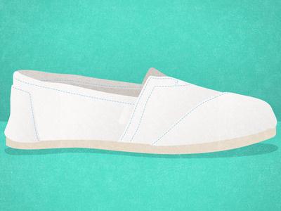 TOMS shoes just for kicks shoes illustration toms white
