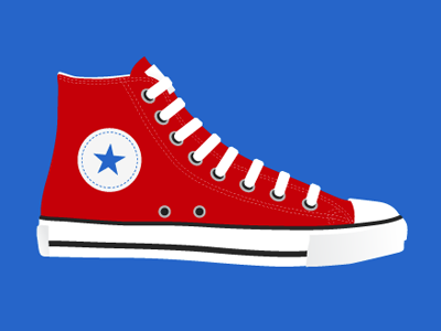 Yet Another Shoe Illustration just for kicks shoes illustration converse chucks hi-tops
