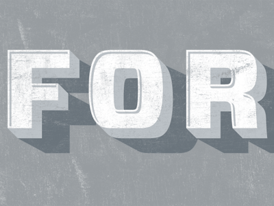 For! typography letters illustration stuff