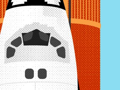 Shuttle Tones sts-133 space shuttle illustration half-tone