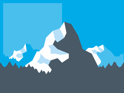 Mountains Majesty illustration mountains blue blocky