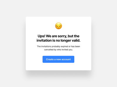 Emoji in design emoji expiration error message message invitation idea