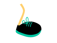 Icon for a blog about running