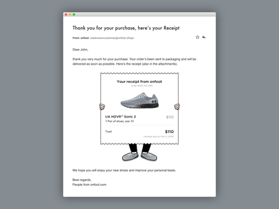 Email Receipt easter egg email receipt receipt order ecommerce idea illustration dailyui 017 dailyui