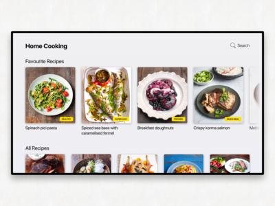 TV App - Cooking