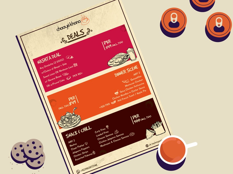 FLYER DESIGN restourant template brand logo brand design identity flat illustrator animation design tea food deals men flyer mokup illustration branding advertising