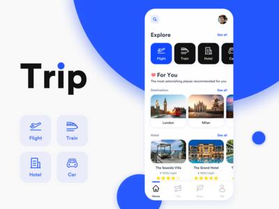 Daily UI 001 - Trip App