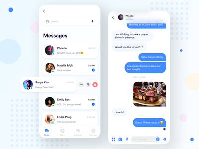 Daily UI 004 - Message App shadow blue app ui ui design uiux social media social app chat message chat app message app app design app daily ui project dailyuichallenge daily ui 004 daily ui 100daysofui 100 day project 100daychallenge