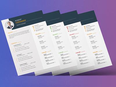 Corporate Resume Desing design corporate flyer resume template resume cv resume clean resume cv template cv resume template cv design cv clean