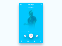 UI practice Music player another color