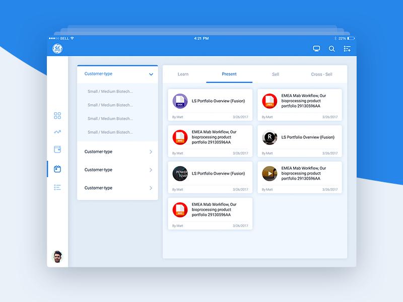 iPad app redesign