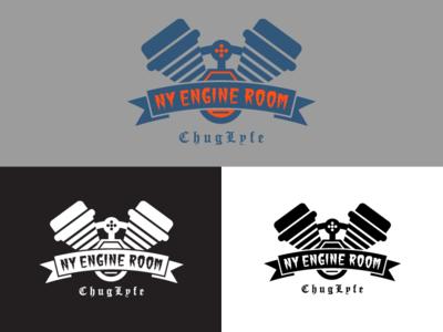 Ny Engine logo engine room design identity greenfuzz