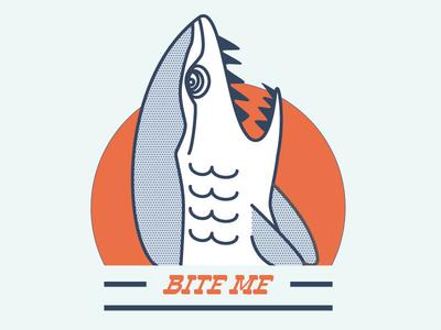 Bite Me surf sf illustration halftone vector bite bite me shark