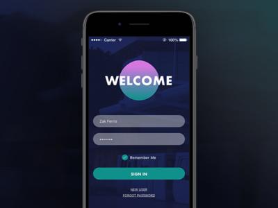 Dailyui 001 mobile app log in daily ui 001