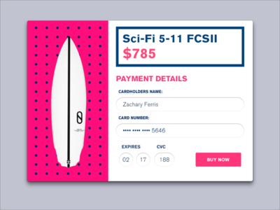 Daily UX #002 checkout surf 002 daily ux