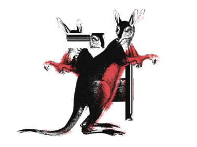 Kanagroo Glitch aus animals glitch kangaroo