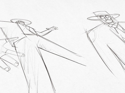 Sketches. Offbeat Estudio West Ident 2d animation character design character offbeatestudio art direction illustration