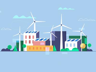 European Greens. Windmills