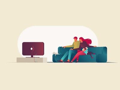 Home illustrator flat vector illustration