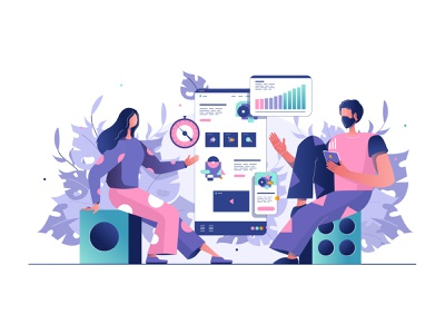 Illustration for the website website web illustrator vector illustration