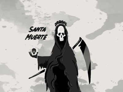 santa muerta illustration