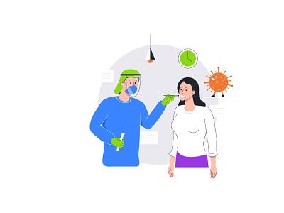 Illustration for the application ui illustrator vector illustration