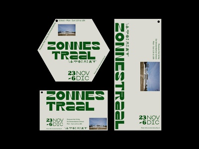 Zonnestraal Exhibition Flyers flyers design typography graphicdesign