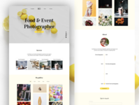 food and event photographer template portfolio template photographer event food food app minimal ux design photography