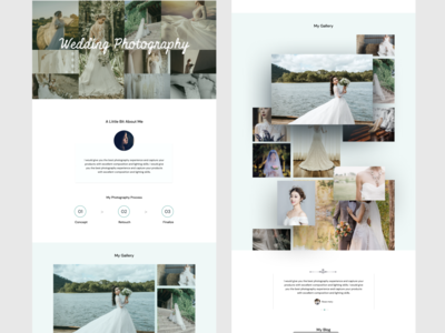 wedding photography template portfolio portrait template design ux minimal photography photographer