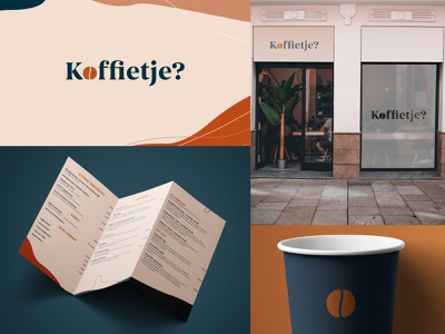 Koffietje? coffee bean hipster coffee shop logo coffee branding identity symbol icon typography design logo branding