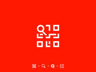 QR + Q + magnifying glass [The QR Network]