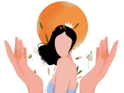 Perfumery vector woman illustration perfumery