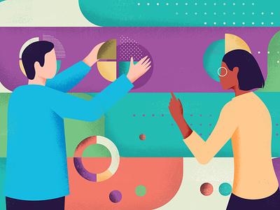 Communition RSE article branding team communication editorial illustration editorial design editorial vector art colorful design vector illustration
