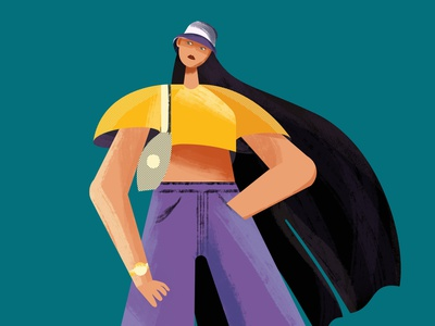 fashionista art illustrator design animation flat minimal vector illustration character design