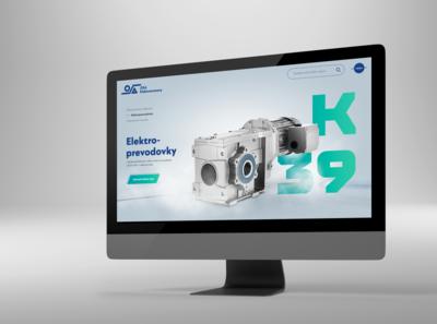 Web for electric motors company OSA Žilina