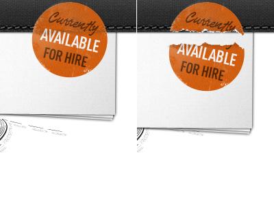 Portfolio Teaser old texture type vintage web design webdesign