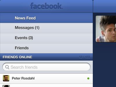 Facebook ipad facebook mockup design wip
