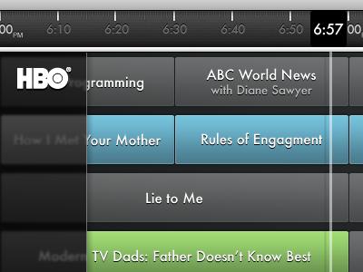 Tv Guide iPad app ipad design mockup wip tv