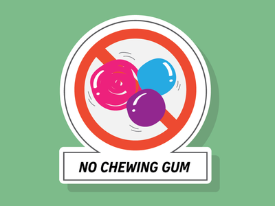 No chewing gum sign!