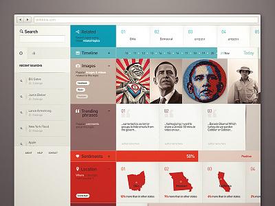 Olyfe dashboard webdesign dashboard search modules modular calendar grid map