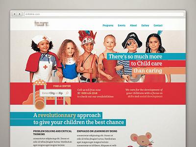 ChildCare Web webdesign homepage childcare daycare kids children education