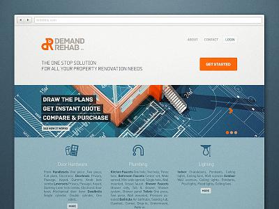 DemandRehab Landing page webdesign business landing page construction
