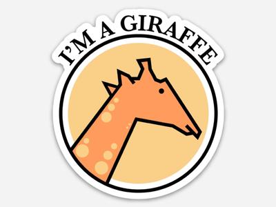 I'm a giraffe!