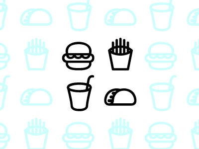 fastfood icons WIP