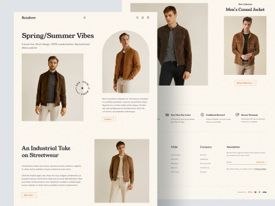 E-Commerce Landing Page cloth store minimal web design website ecommerce website ecommerce design online store fashion store fashion clothes landing page e-commerce ecommerce modern