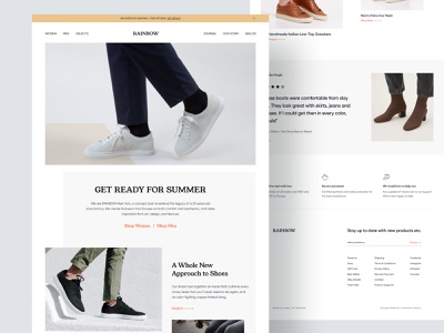 E-Commerce Landing Page halal lab minimal landing page shoe shop shoe app minimal website design ecommerce e-commerce landing page shoes store shoe website shoe landing page fashion fashion store online store ecommerce design ecommerce website website web design minimal